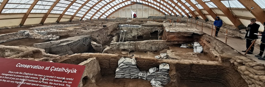 Photo from an excavation site at the ancient city Çatalhöyük,
